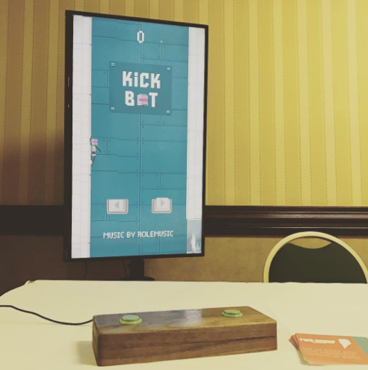 Kick Bot, a game by Two Scoop Games on display at CodePaLOUsa, Louisville Kentucky June 2017
